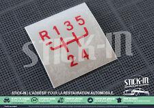 Autocollant Stickers Pommeau Renault 5 GT turbo GTT R5 gearknob 100% Renovation