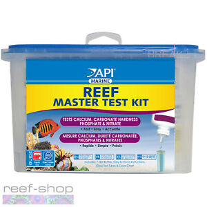 API Reef Master Test Kit Calcium KH Phosphate Nitrate Fast Easy Accurate Results