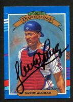 Sandy Alomar #13 signed autograph auto 1991 Donruss Baseball Trading Card