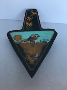 Hand Painted Implement Shovel Male & Female Pheasant