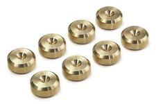 - BRITISH Made - CNC BRASS Speaker Spike Pads Shoes Feet 16 mm DIA - SeT of 8-