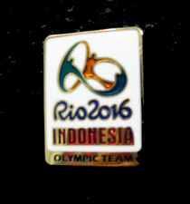 2016 RIO BRAZIL 31st Summer OLYMPIC NOC INDONESIA DelegatIon Team pin