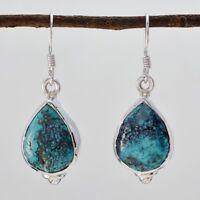 attraktiver Türkis 925 Sterling Silber Multi Ohrring echter Schmuck DE Geschenk