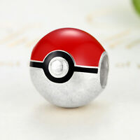 CHARM ARGENT STERLING 925 CHARM POKEBALL POKEMON