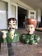Vintage I Love Lucy Lucille Ball and Ricky Ricardo Ceramic Head Vase Set
