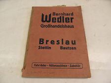alter Fahrrad Katalog Bernhard Wedler Breslau Stettin Bautzen