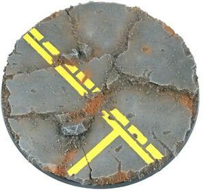 Industrial Road - Round Resin Base 100 mm - 1 Painted/Unpainted Base Warhammer