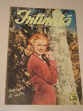 INTIMITA rivista  1949 n.189 storie vere confidenze di cuori ROMANZO