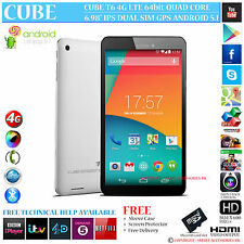 "Cubo 16 4G LTE DUAL SIM GPS QUAD CORE 6.98 ""IPS 5.1 telefono con Android Tablet PC"