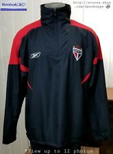 Reebok Sao Paulo Football Club Soccer Brazil SPFC Windbreaker BLK Jacket **L/XL