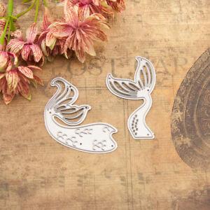 Mermaid Tail Metal Cutting Dies Stencil Scrapbooking Card Album Embossing DIY