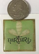 NURTURE Epoxy Stickers(4pc) foof•a•La•Vintage Look•Plants Growing•Victorian•Tree