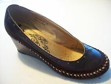 Naughty Monkey Brown Suede Leather Wedge Pumps Shoe Size 7 @ cLOSeT