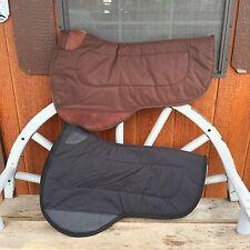 Mule Western Contoured Saddle Pad - Tough 1- Neoprene Brown Or Black