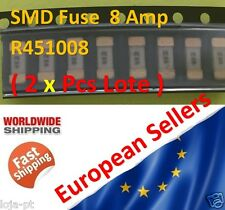 2x Unit - 8 Amp SMD Fuse R451008 Fast-Acting Fuse 1808 Marking 8A - Fast Ship