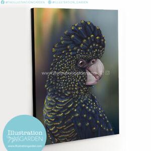 Black Cockatoo fine art print_stretched canvas_corrugated iron_Aussie Artist