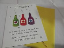 21 Today......Birthday Greetings Card........By Paper Rose