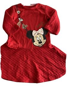 Minnie Mouse Dress Size 4 Red