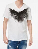 INC NEW White Black Men's Size Large L V-Neck Graphic Tee T-Shirt $29 284