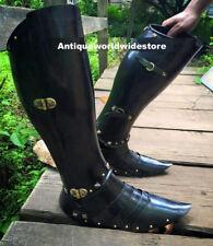 New Armour Halloween Black Leg Guard Medieval Unique Replica Costume