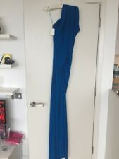 BNWT PLEIN SUD COBALT BLUE JERSEY ASY MAXI DRESS SIZE EUR 38 / UK 10