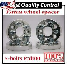 """4pcs Alloy Wheel Spacer Spacers Adapter 5X100 To 5X100  WRX STI BRZ FR-S 1"""" 25MM"""