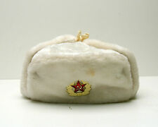 Vintage Ushanka  Military hat, winter hats Russian Army White