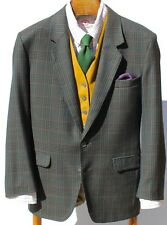 Signé Noblet France 38R Gent's Green, Black, Blue, Red Check Sport Coat / Blazer