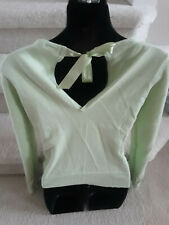 Gap ~ green Sweater 60% Cotton and 20% Angora Rabbit, tie back ~ Size S