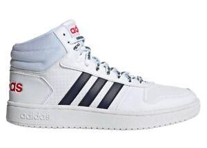 Scarpe uomo Adidas FW4478 sneakers alte sportive ginnastica pelle bianche basket