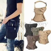 Outdoor Canvas Tactical Military Drop Leg Bag Thigh Fanny Pack Waist Belt Pouch