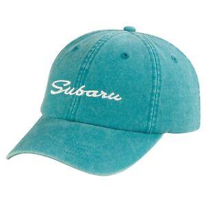 Genuine Subaru Logo Ladies Script Chino Dad Hat Cap STi Forester Ascent Outback