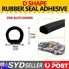 16M Coil Rubber Seal D Type Strip Self-Adhesive Door Scratch Dust Proof Trim DIY
