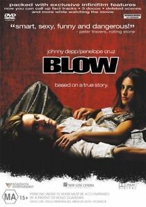 Blow DVD (PAL, 2002) Based on a True Story - FREE POST