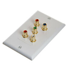 RCA Wall Plate - Component Video Audio 5-RCA Gold Connector 566-N