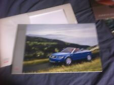 2003 Audi A3 Cabriolet USA Market Color Brochure Catalog Prospekt