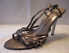 TWENTY ONE women's shoes strappy stiletto heels prom bridal party 8M VG  002:u-8