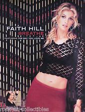 FAITH HILL 2000 BREATHE PROMO POSTER ORIGINAL