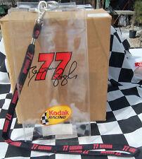 NASCAR BRENDAN GAUGHAN  #77 KODAK TICKET OR CREDENTIAL HOLDER WITH LANYARD ~NICE