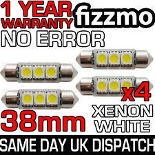 4x 38mm plaque d'immatriculation intérieur 6000K Blanc Lumineux 3 LED SMD C5W Feston Ampoule L@@K