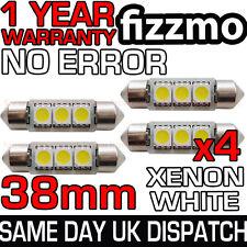 4x 38mm NUMBER PLATE INTERIOR 6000k BRIGHT WHITE 3 SMD LED C5W FESTOON BULB L@@K