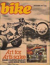 Bike Dec 1977 Honda CB400F2 CB400T Enfield India 350  BMW R60 /7 Paris show