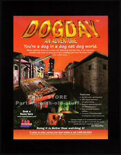 DOGDAY - AN ADVENTURE__Original 1997 Trade print AD_video game poster__PC advert