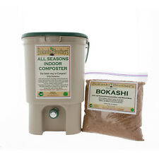 Bokashi Brothers Indoor Composter™ Kit (Tan) Includes one1KG bag Bokashi