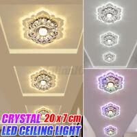 3W LED Kristall Deckenleuchte Wohnzimmer Kronleuchter Flurleuchte Deckenlampe
