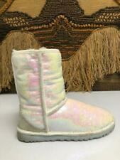 UGG Sparkles White Pearlescent Sequined 1003511 SZ U.S. 6 EU 37.Youth