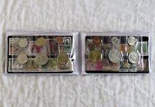 Singapur y Malasia 12 monedas y colección de estampillas de turismo-Azul Cartera