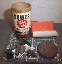 vintage BOWES tire tube repair kit tin, great colors & graphics, seal fast style
