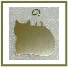 50 - Pet Id Tags Tag Cat Kitten Engraved Aluminum New