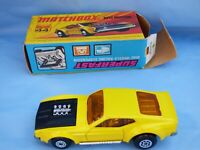 1972 Matchbox Superfast No 44 Yellow Boss Mustang American Muscle Car Toy Boxed